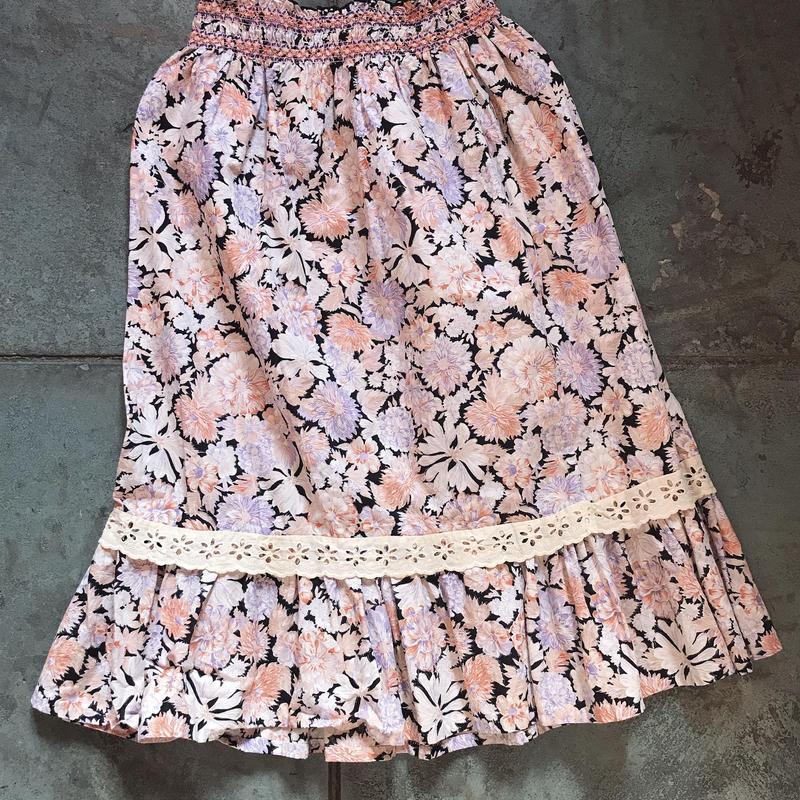 1970s floral skirt