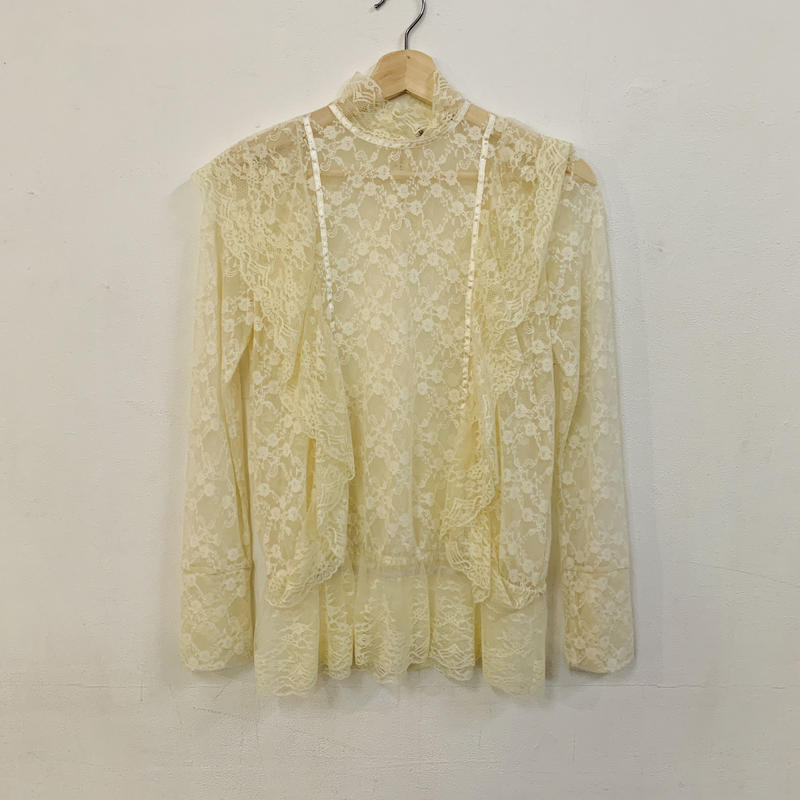 1970s lace ruffle top