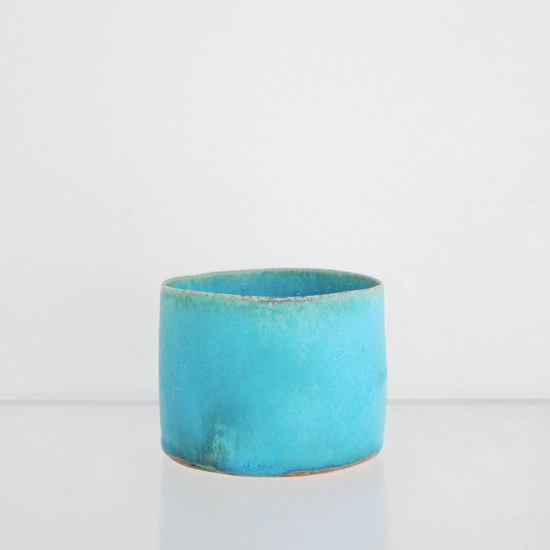 植木鉢 ターコイズブルー - 藤本羊子