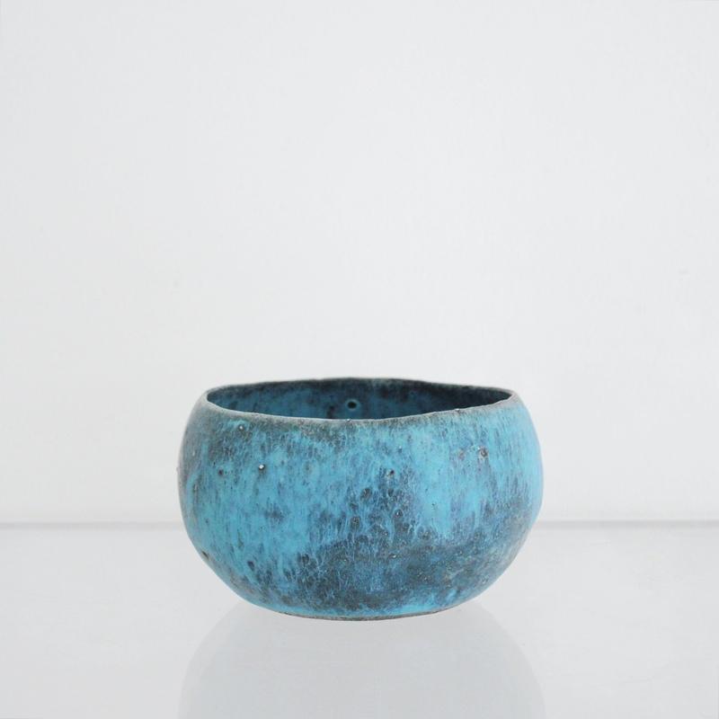 植木鉢 青 - 藤本羊子