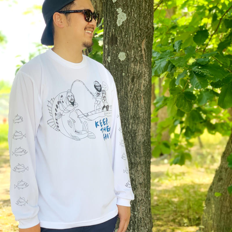 chi-bee×NEW CURRENT WORKS DRY LONG Sleeve Tee(3L~5L)