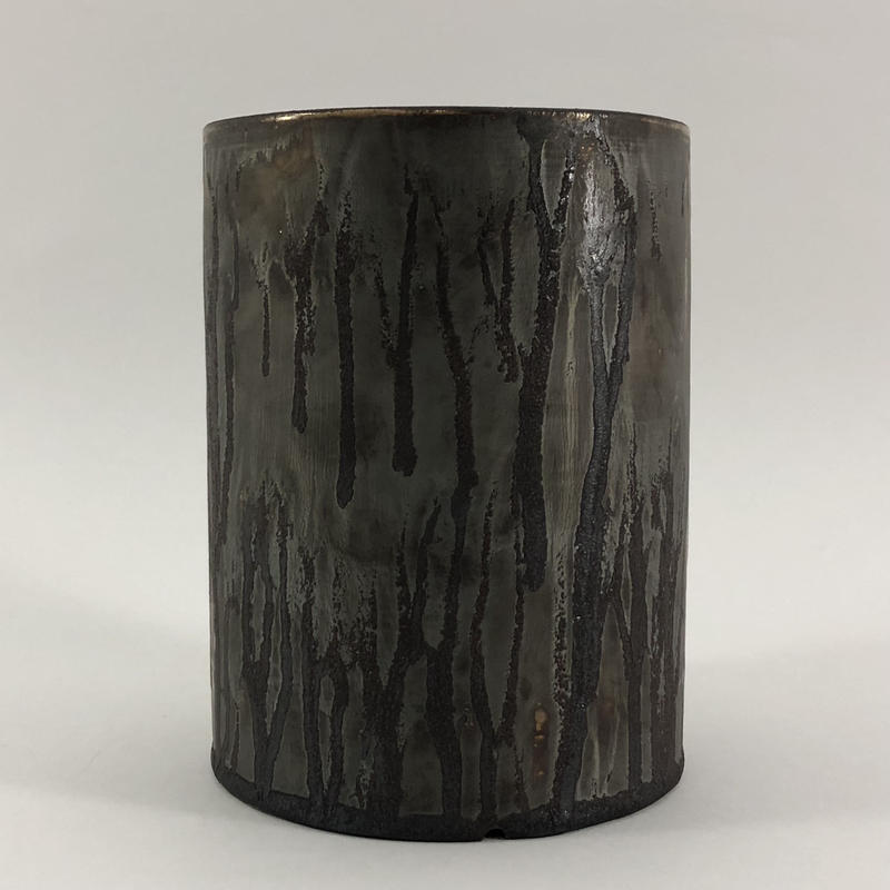 Roughness black cylinder pot(L)