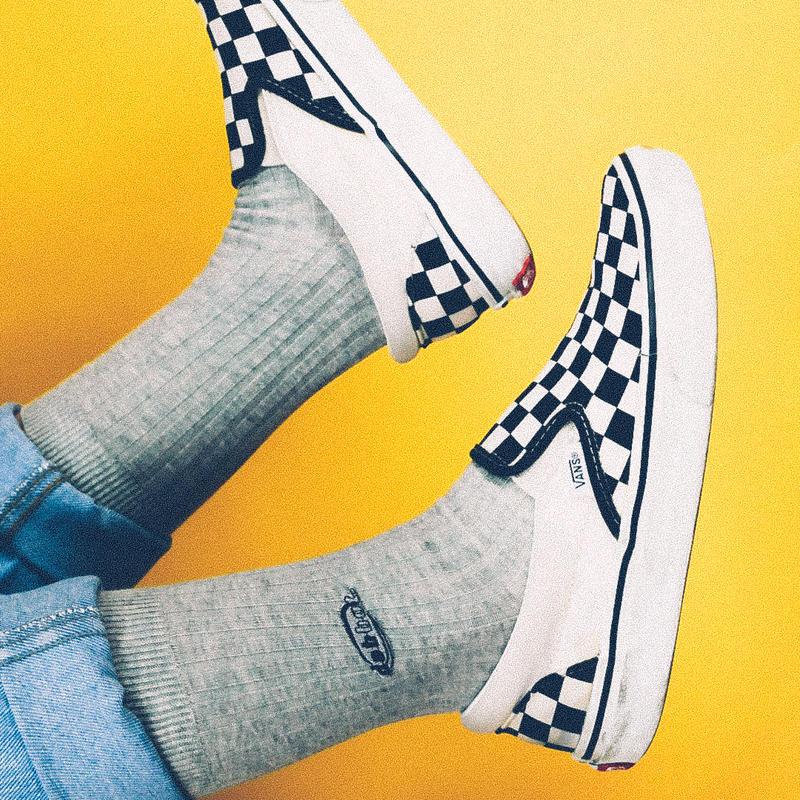 mini logo rib socks (gray)