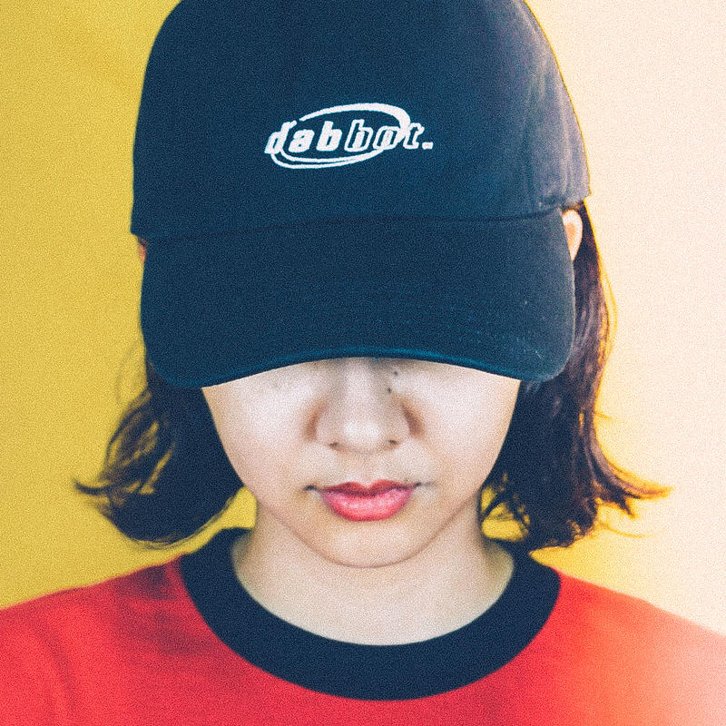mini logo baseball cap (black)