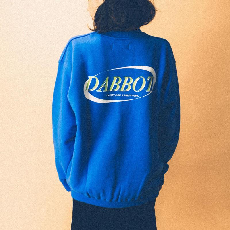 new big back logo sweat(blue)
