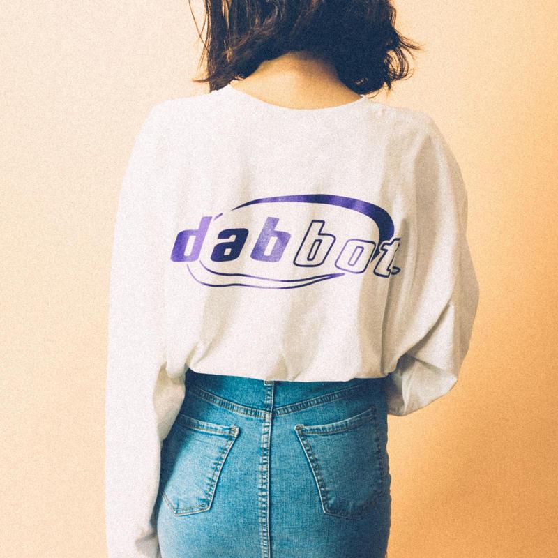 back&sleeve logo long-tee(white)