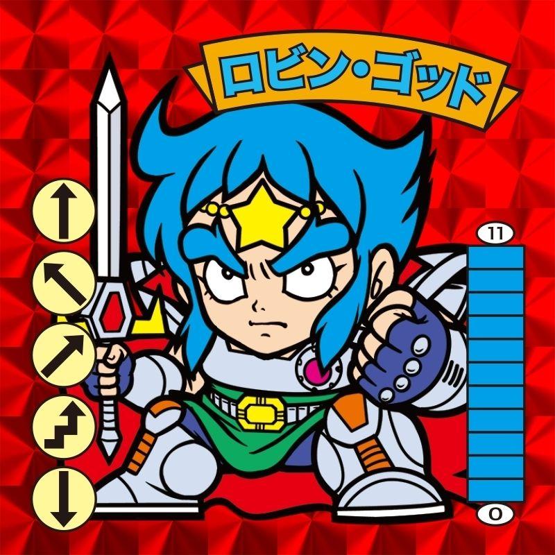 ロビン・ゴッド 赤プリズム / ベン・K・ゴッド黄プリズムシール2枚組セット