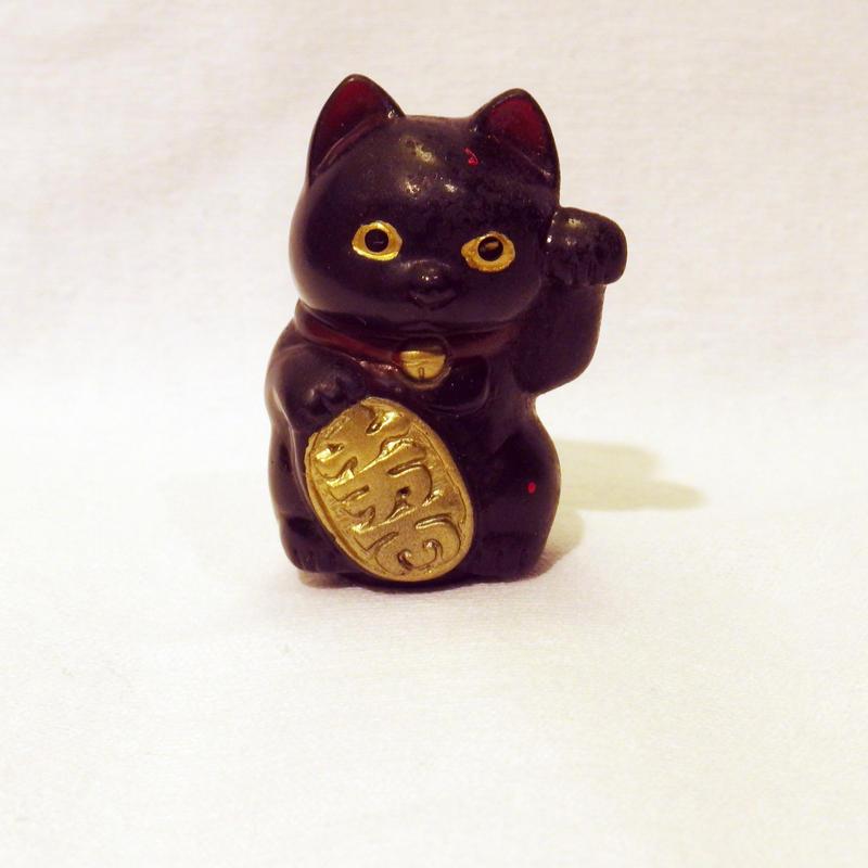 昭和の駄玩具 黒い招き猫 ソフビ