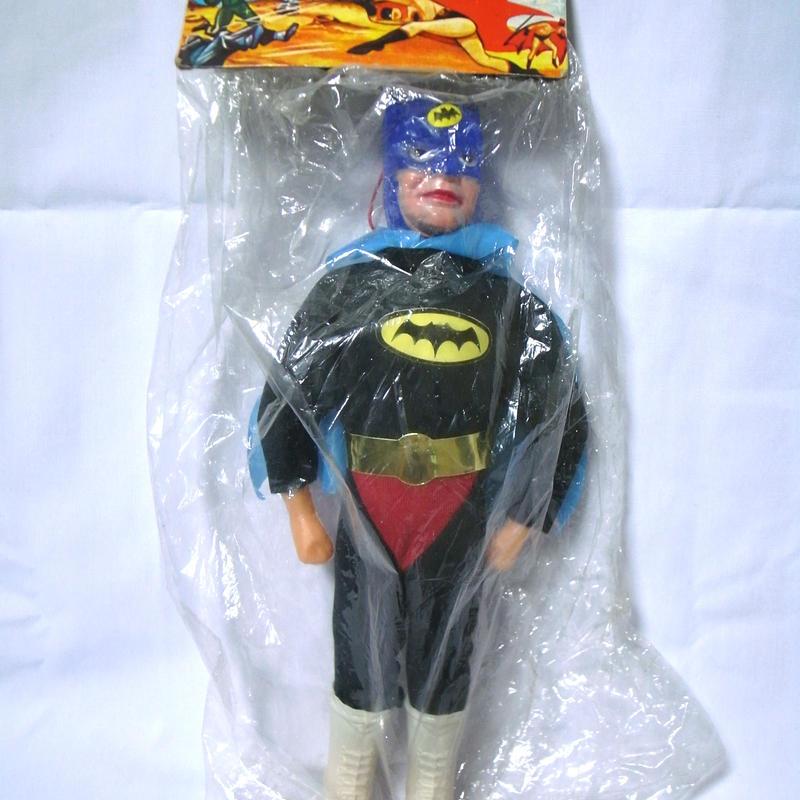 SPACE FLYMAN  Vintage BootlegToy  BATMAN パチ 黒服赤パンツver.