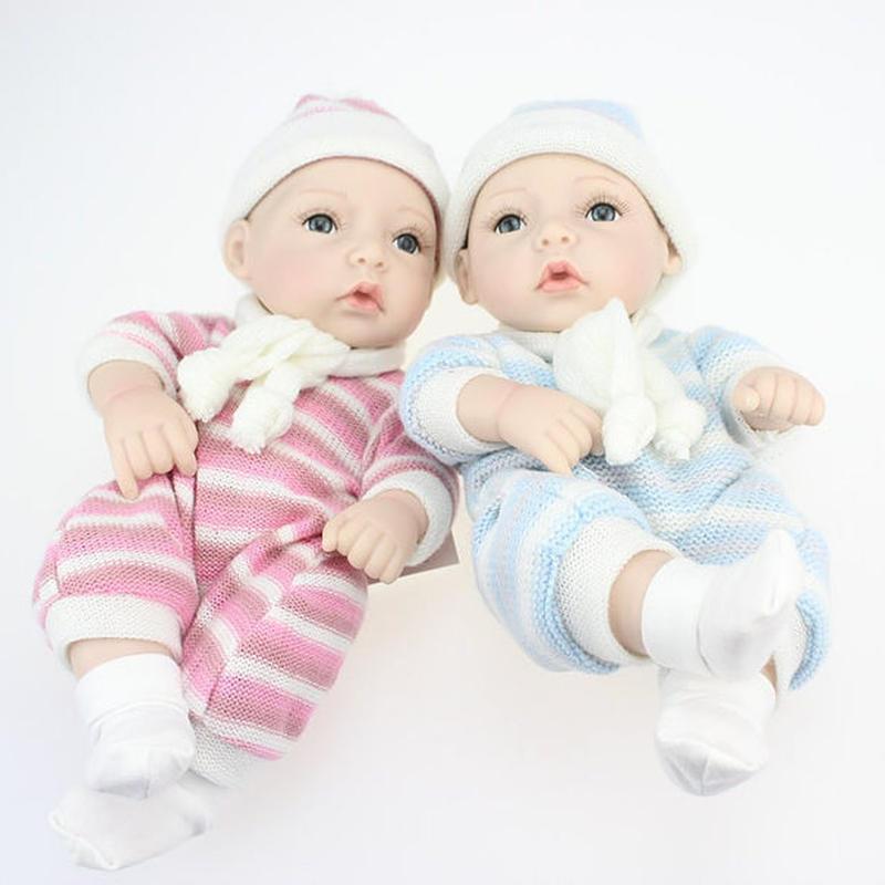 リボーンドール フルシリコンビニール リアル赤ちゃん人形 ミニサイズ28cm 入浴可能 かわいいベビー人形 選べる男の子・女の子 新生児 ぱっちりお目目