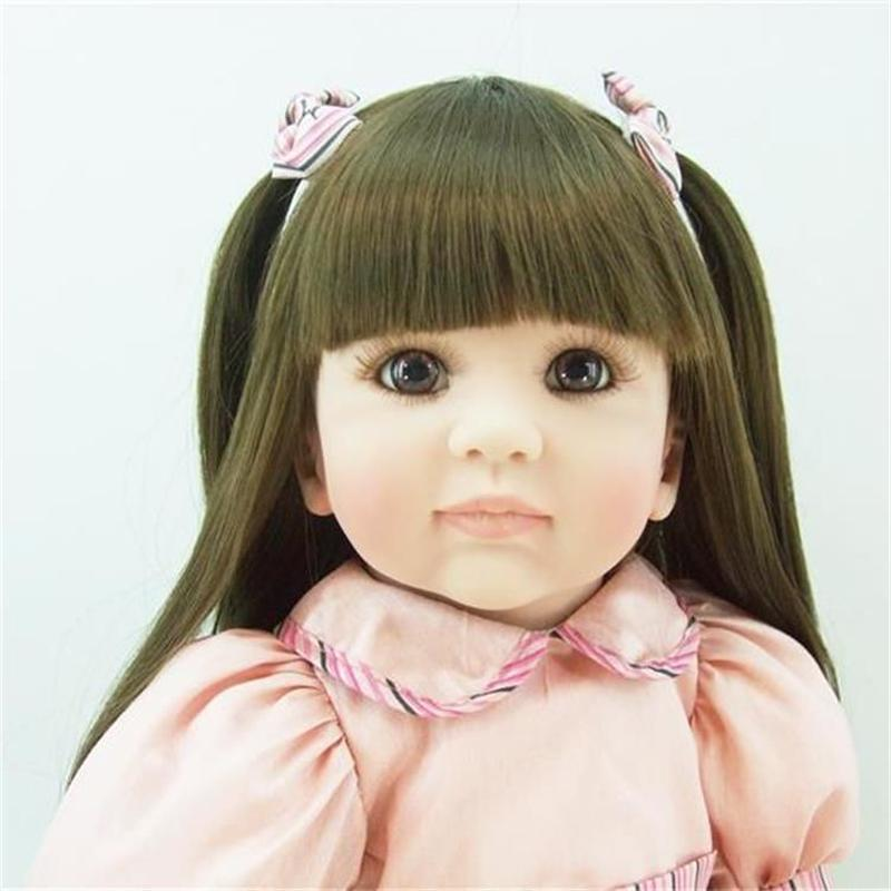 リボーンドールトドラー 抱き人形 プリンセスドール 西洋人形 女の子 お嬢様 お姫様人形 ベビードール 綿ボディ ピンクワンピ ロングヘア