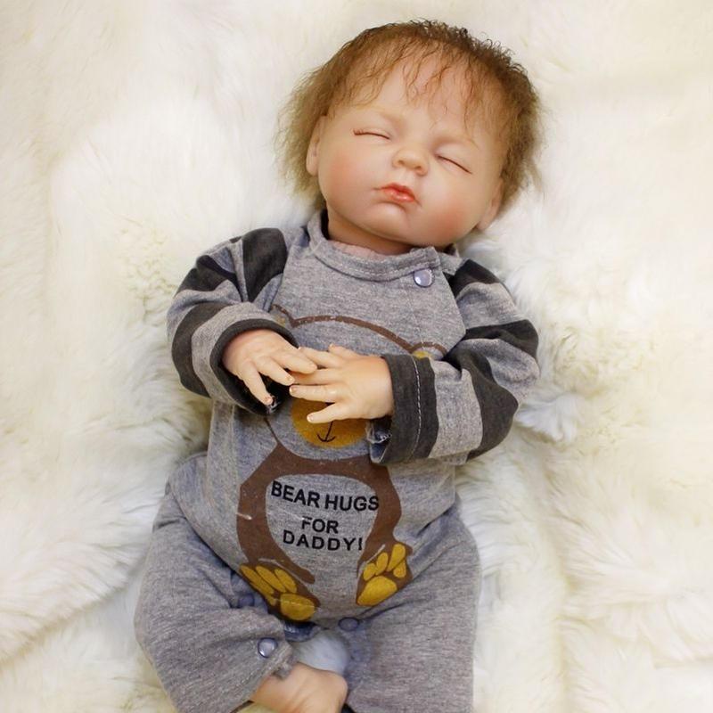 リボーンドール 赤ちゃん人形 ベビー人形 ベビードール 海外ドール リアル ハンドメイド 高級 服 衣装付き かわいい  寝顔 乳児 おしゃぶり スイートドリーム 男の子