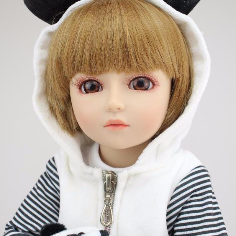 球体関節人形 完成品 リボーンドール お嬢様 お姫様 女の子人形 フルビニール 17インチ上品 美少女 BJD/SD/MSD好きに パンダのお洋服