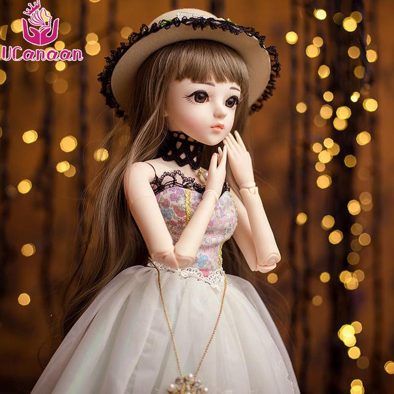 球体関節人形 BJD 衣装付き お姫様 お嬢様 女の子プリンセスドール 60cm 美しいフランス人形/西洋人形/SD 清楚ワンピース帽子 美少女 新品