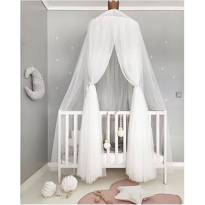 キッズルーム 天蓋 キャノピー 蚊帳 テント ベビーベッドに ミニカーテン 子供部屋 おしゃれ ロマンチック インスタ映え 白 チュール