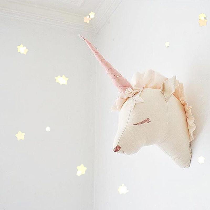 キッズルームデコレーション ユニコーン トナカイ 北欧風 ぬいぐるみ 壁飾り ウォールデコレーション 夢の子供部屋