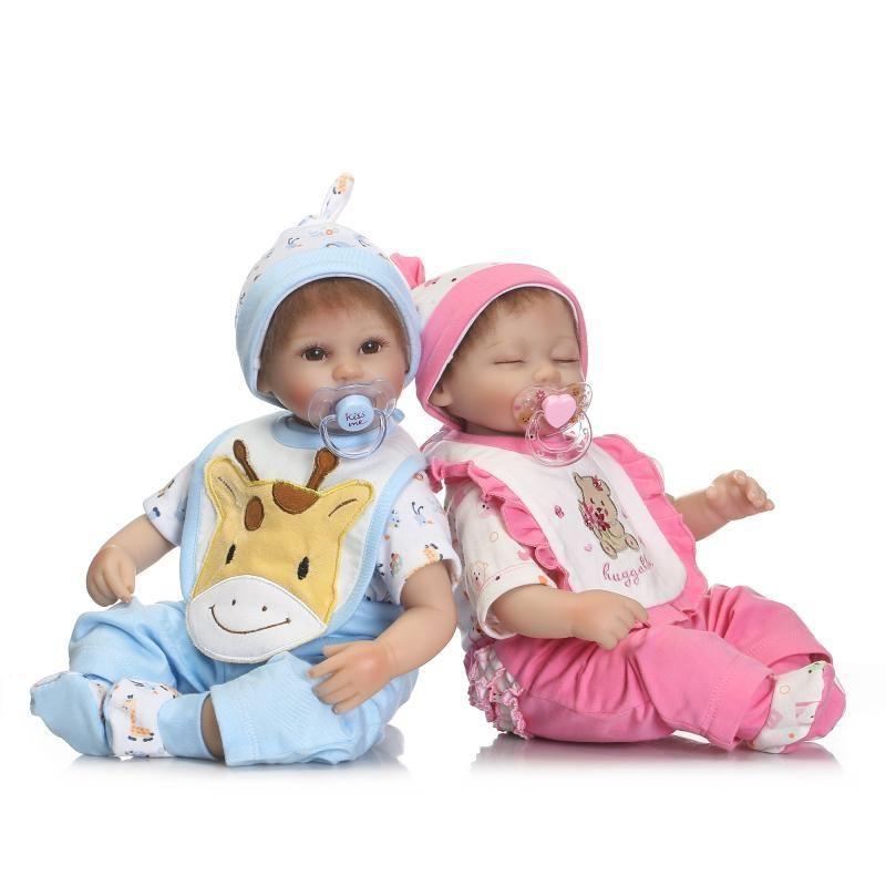 リボーンドール リアル赤ちゃん人形 小さめ40cm かわいいベビー人形 ハンドメイド海外ドール 衣装とおしゃぶり・哺乳瓶付き ベビー服の新生児ちゃん 男の子or女の子 お世話セット