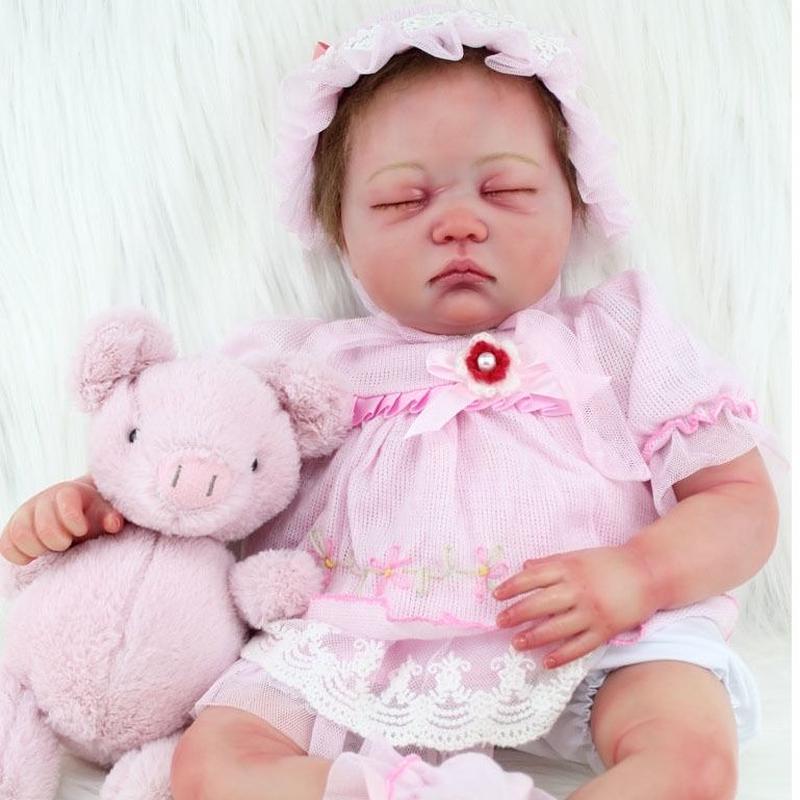 リボーンドール リアル赤ちゃん人形 本物そっくり かわいいベビー人形 ハンドメイド海外ドール 衣装付き クローズアイ アーティストメイク 外国の女の子 本物みたいな乳児ちゃん