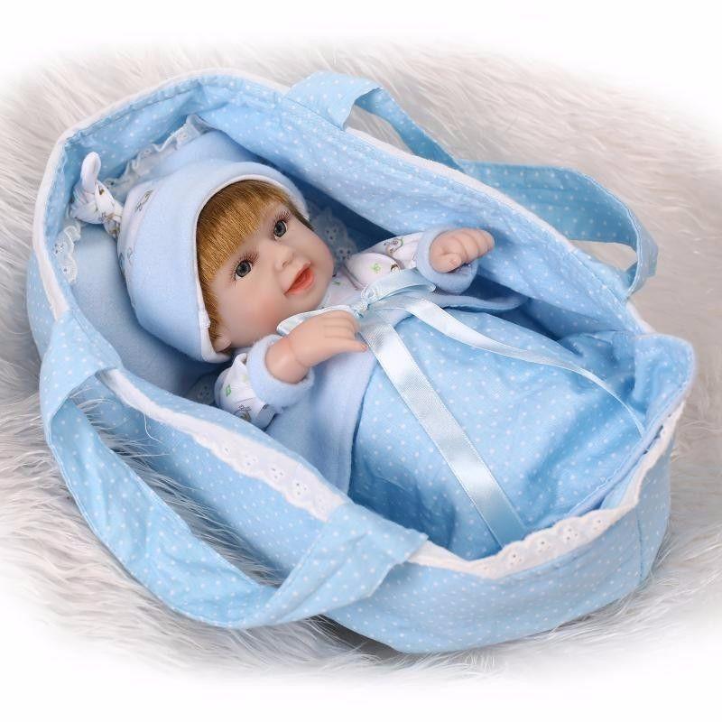 リボーンドール フルシリコンビニール リアル赤ちゃん人形 ミニサイズ25cm 入浴可能 かわいいベビー人形 未熟児サイズ 選べる男女 ベビークーハンつき