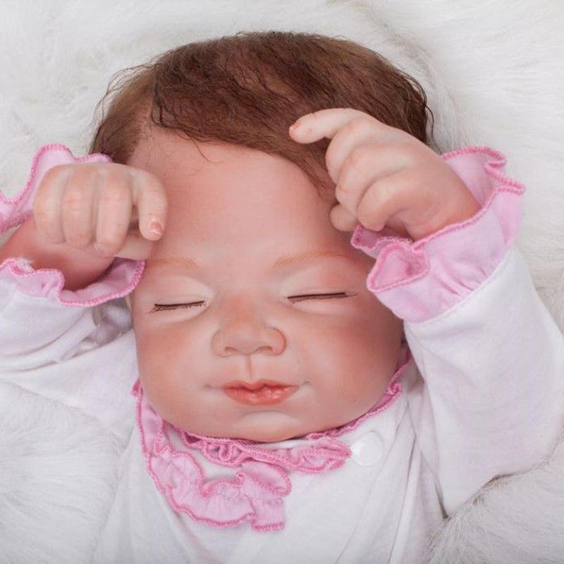 リボーンドール リアル赤ちゃん人形 本物そっくり かわいいベビー人形 ハンドメイド海外ドール 衣装付き クローズアイ おねんねすやすや おやすみ中 女の子 乳児ちゃん
