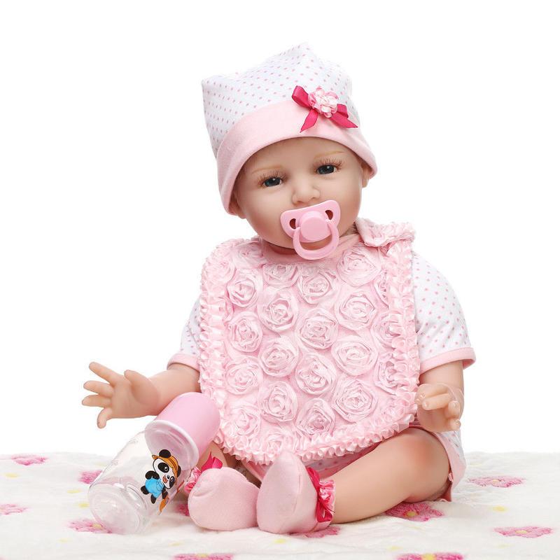 リボーンドール 赤ちゃん人形 ベビー人形 ベビードール 海外ドール かわいい リアル ハンドメイド 高級 服 衣装付き お帽子 おしゃぶり スタイ キラキラな笑顔の女の子 乳児 新生児
