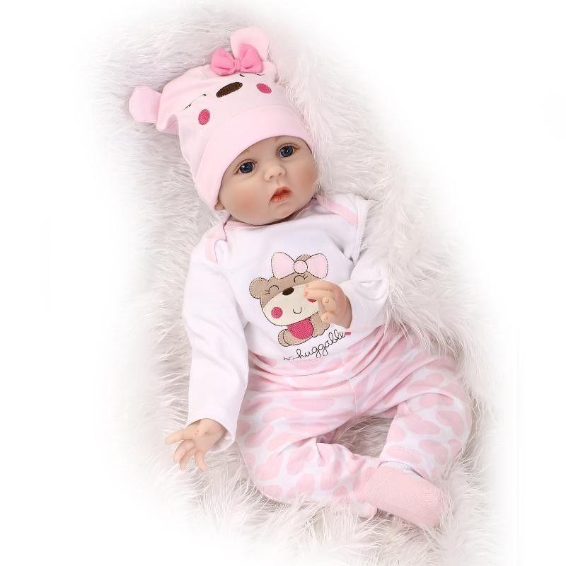 リボーンドール かわいい 赤ちゃん人形 大人気モデル ベビー人形 ベビードール 海外ドール リアル ハンドメイド 高級 服 衣装付き いつでも一緒 お帽子 あどけない表情の乳児ちゃん ぷっくりほっぺ
