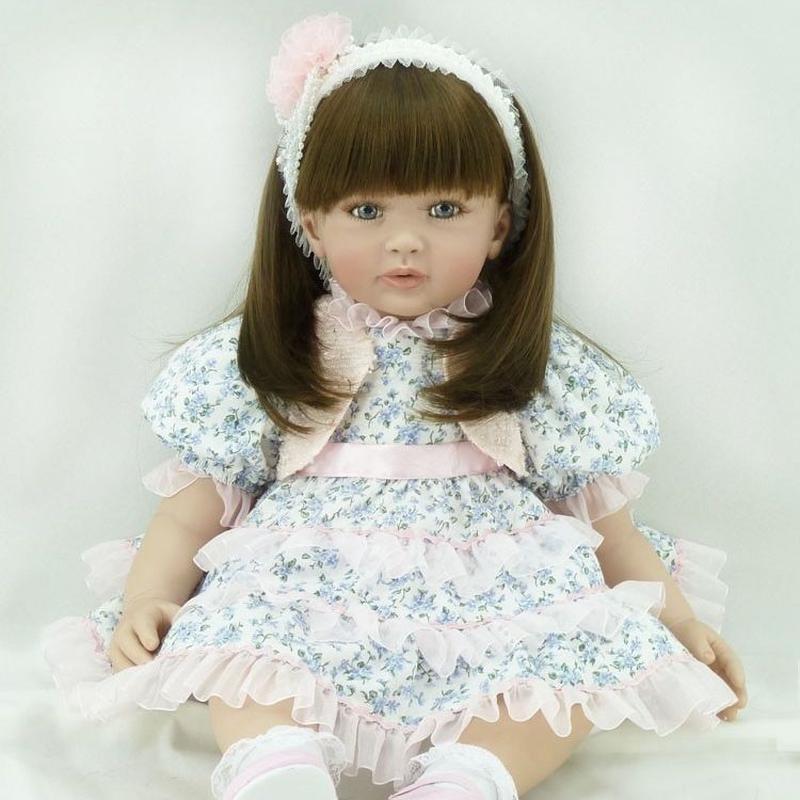 リボーンドール プリンセスドール トドラードール 抱き人形 赤ちゃん人形 ベビードール ハンドメイド リアル 高級 服 衣装付き かわいい ドレスでおめかし ブルーアイのお嬢様