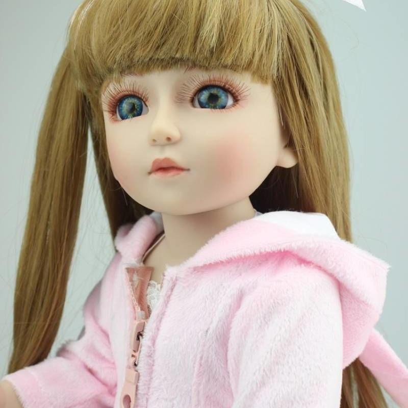 球体関節人形 完成品 リボーンドール 女の子人形 着せ替え フルビニール 17インチ  美少女 お嬢様 BJD/SD/MSD好きに ピンク 白ブーツ