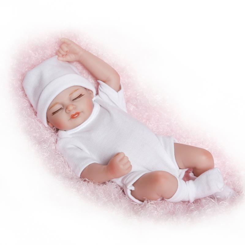 リボーンドール フルシリコンビニール リアル赤ちゃん人形 ミニサイズ25cm 入浴可能 かわいいベビー人形 新生児 未熟児サイズ 男の子 女の子 クローズアイ