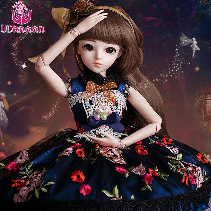 球体関節人形 BJD 衣装付き お姫様 お嬢様 女の子 プリンセスドール 60cm 美しい フランス人形/西洋人形/SD シックなドレス 美少女 新品
