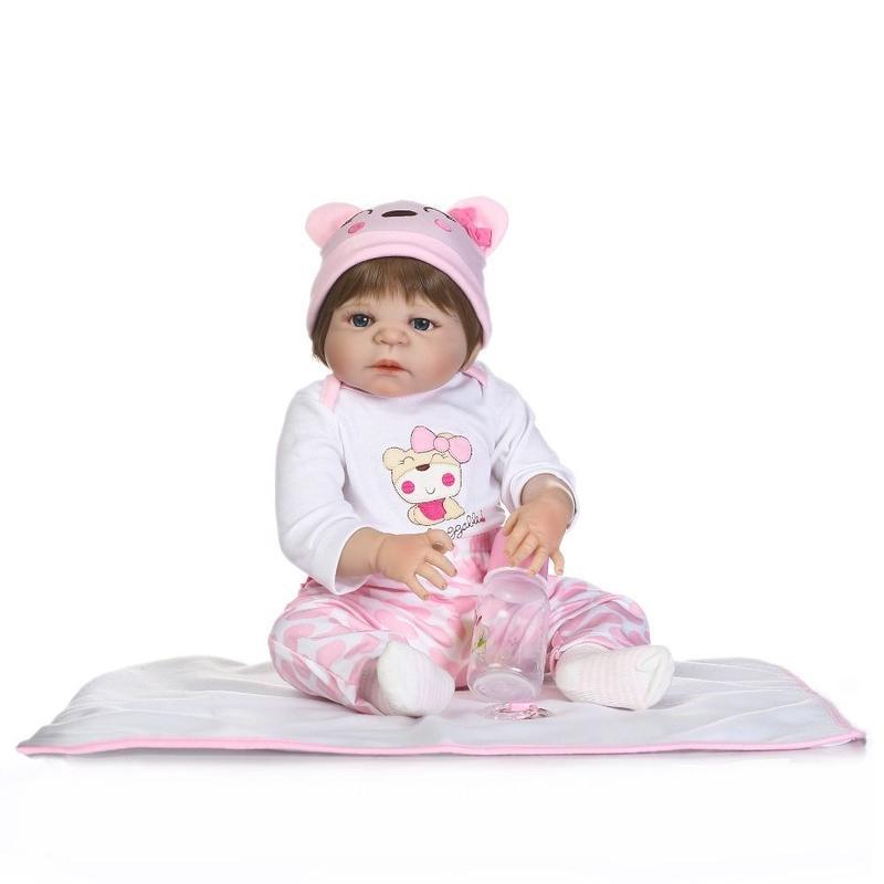 リボーンドール リアル赤ちゃん人形 フルシリコンビニール 女の子 お風呂OK かわいいベビー人形お世話セット ベビー服の赤ちゃん