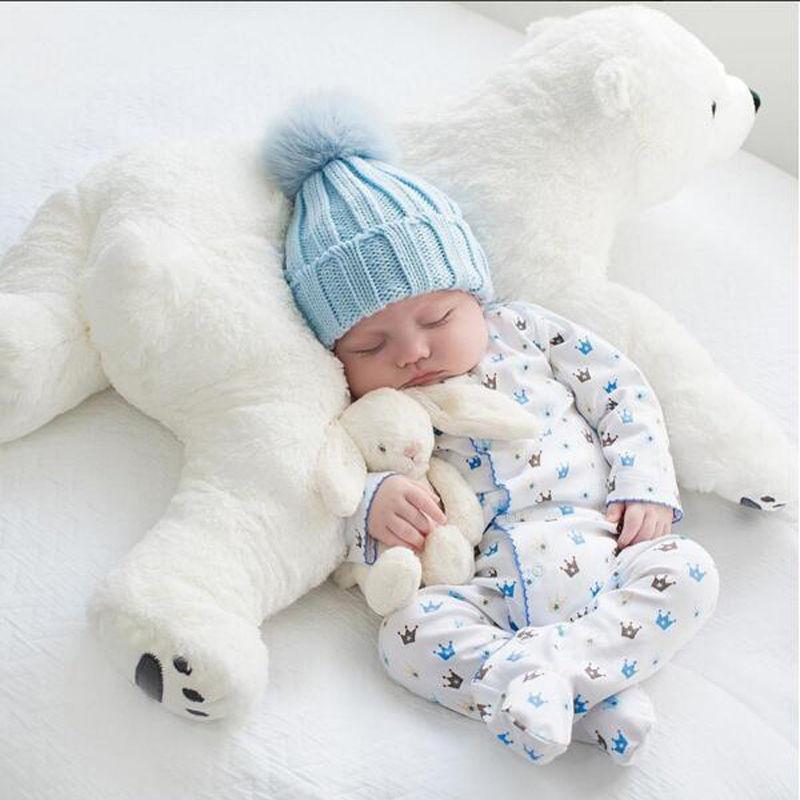 しろくま シロクマ ぬいぐるみ 抱き枕 クッション 70cm 大きい インスタ映え 大きい かわいい 赤ちゃん ベビー リボーンドール用にも