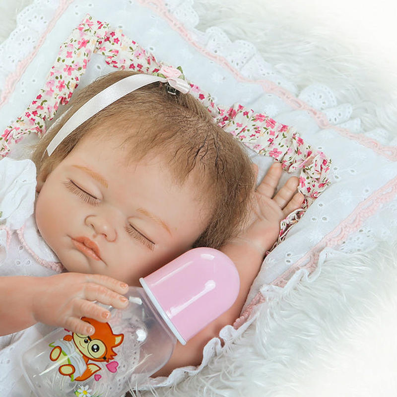 リボーンドール リアル赤ちゃん人形 フルシリコンビニール 女の子 入浴可能  かわいいベビー人形お ハンドメイド 海外ドール 安らかぐっすりおねんね