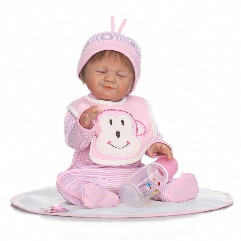 リボーンドール リアル赤ちゃん人形 フルシリコンビニール 女の子 入浴可能 かわいいベビー人形お世話セット ハンドメイド 笑顔でおねんね