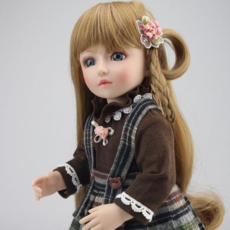 球体関節人形 BJD 衣装付き完成品 フルビニール 約45cm 女の子 美少女 お嬢様 お姫様 フランス人形/着せ替え人形/カスタムドール/BJD/SD/MSD好きに ブラウンヘア