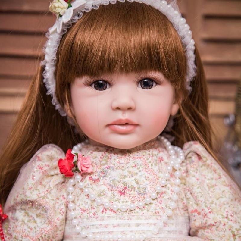 リボーンドール プリンセスドール トドラードール お姫様 女の子 抱き人形 赤ちゃん人形 ベビードール ハンドメイド リアル 高級 服 衣装付き かわいい ぱっちりおめめのお嬢様