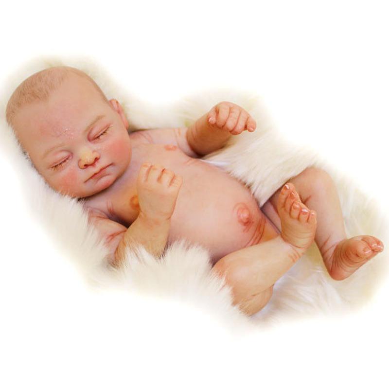 リボーンドール フルシリコンビニール リアル赤ちゃん人形 ミニサイズ 新生児 お風呂OK 入浴可能 かわいいベビー人形 ハンドメイド海外製ドール  アーティストによるメイクの限定モデル 女の子