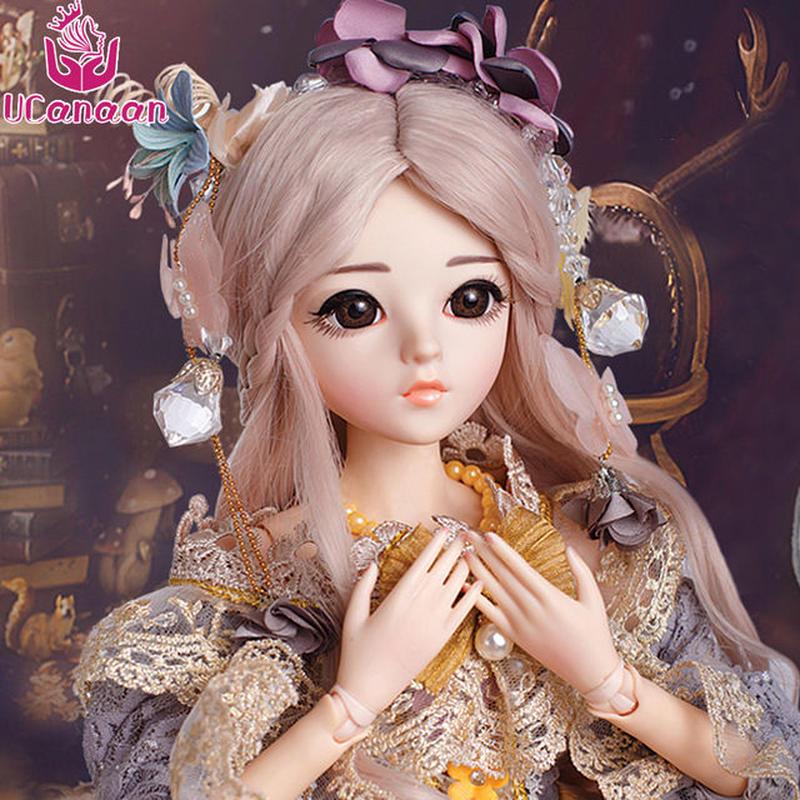 球体関節人形 BJD 衣装付き お姫様 お嬢様 女の子プリンセスドール 60cm 美しいフランス人形/西洋人形/SD ミステリアス ベージュピンクヘアの美少女 新品