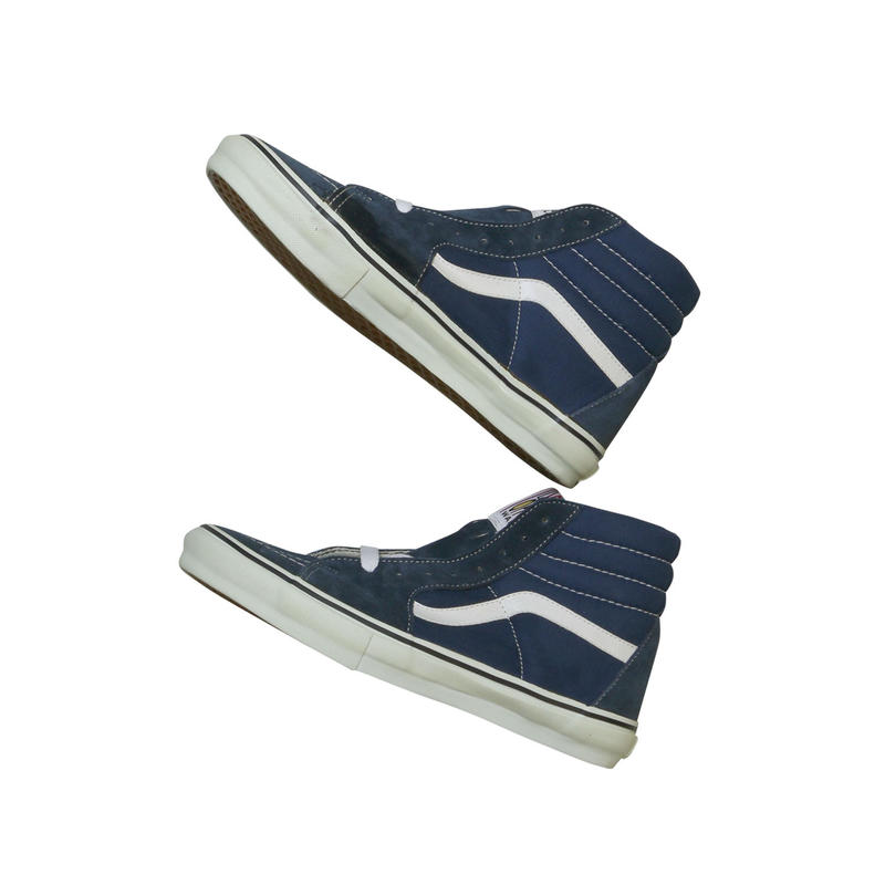 "LATE 90'S DEAD STOCK VANS ""SK8-HI"" NAVY / WHITE"