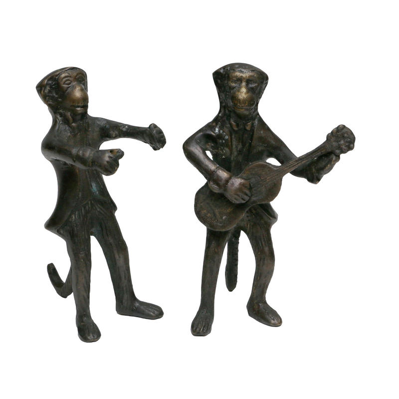 "VINTAGE ""MONKEY WITH GUITER"" IRON ORNAMENT"