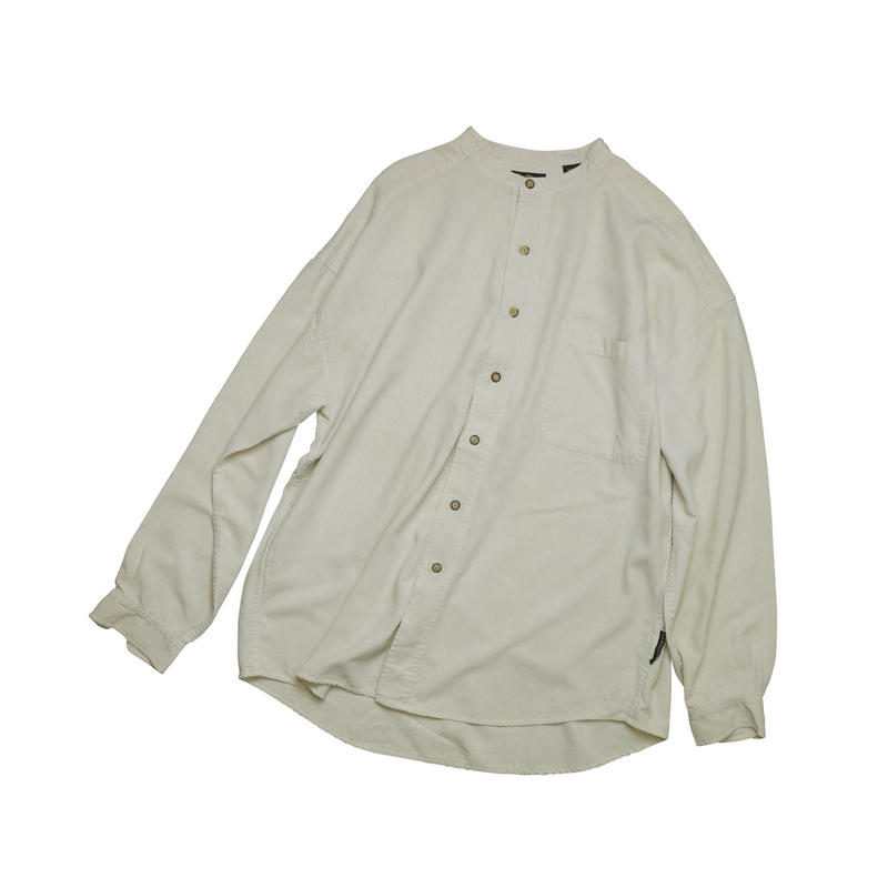 """USED """"STRUCTURE"""" BAND COLLAR SHIRT"""