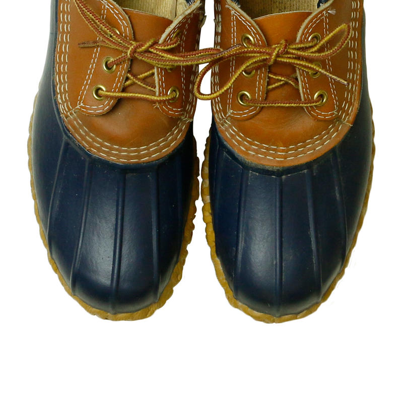"""USED L.L.BEAN """"BEAN BOOTS"""" NAVY LOW"""