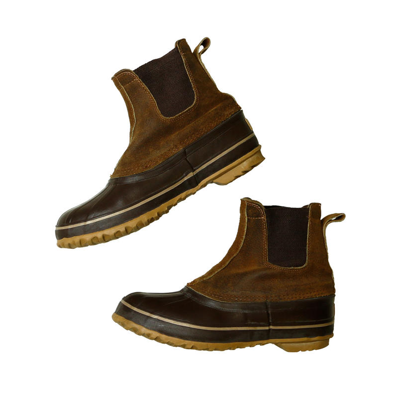 USED SOREL SIDE GORE DUCK BOOTS