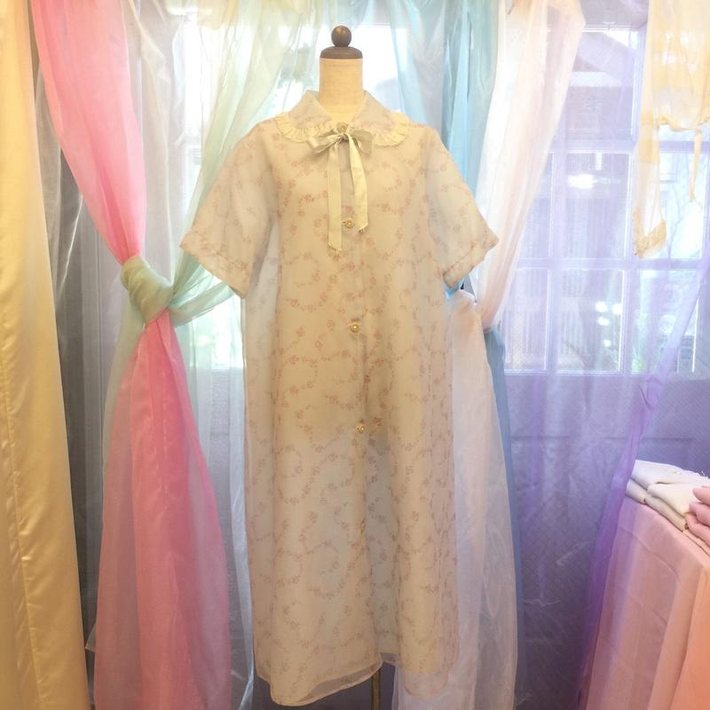 1950's Vintage Pink Daisy Night Gown