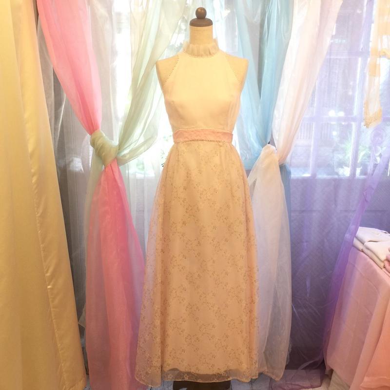 1970's Sweet Pink Floral Dress