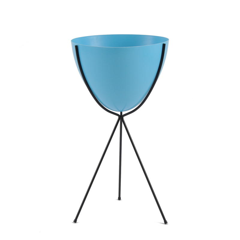 Retro Bullet Planter by Hip Haven™ – Tall(Bright Blue)