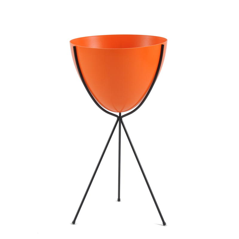 Retro Bullet Planter by Hip Haven™ – Tall(Hot Orange)