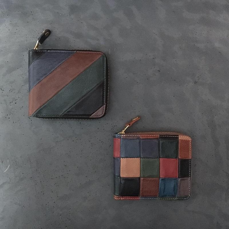 PATCHWORK ZIP WALLET SMALL