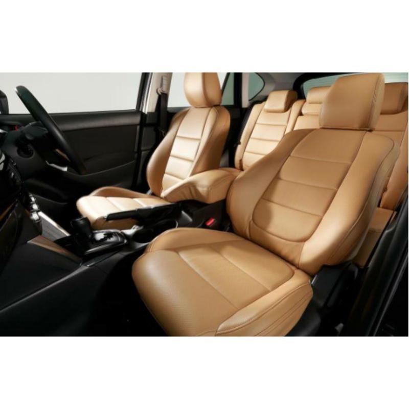 "Premium Fit Seat Cover for MAZDA CX-5 (KE系/後期) ""Tan × Brown Stitch"