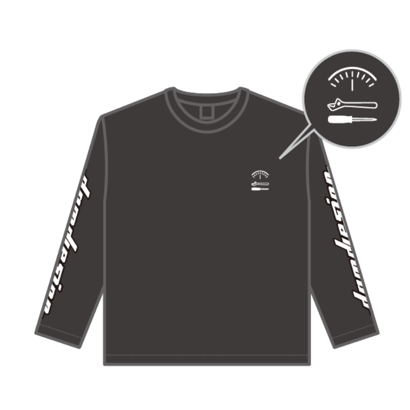 """damd design"" Long Sleeve T-shirt - black -"